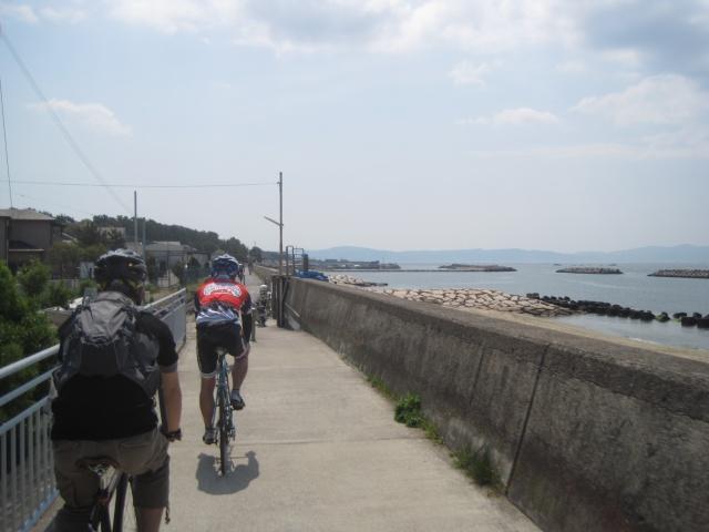 自転車道 加古川 自転車道 : 明石焼き・明石海峡大橋を望む ...