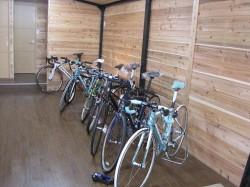 自転車展示スペース