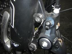 ブレーキは、油圧XTRディスク