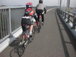 早速!来島海峡大橋を渡る、へっぽこ兄妹