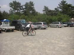へっぽこno.1、駐車場からXCコースへ