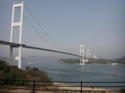 来島海峡大橋、サンライズ糸山より