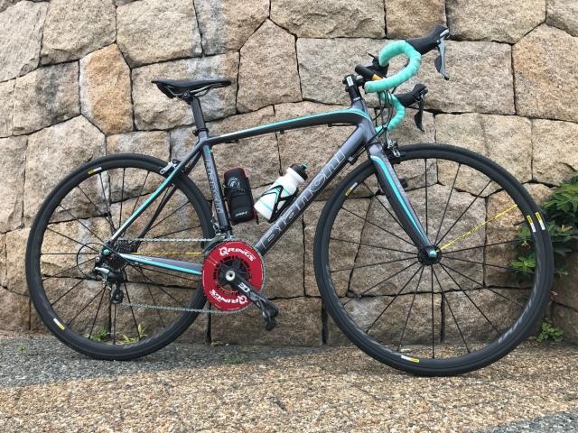 Bianchi ロードバイクにMAVICホイール&ROTORクランク装着!